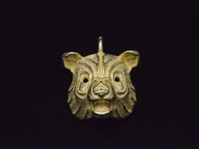 Panda Pendant in Polished Gold Steel
