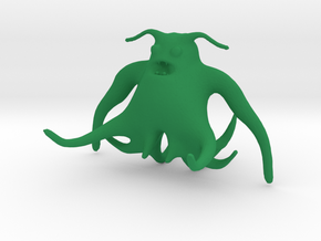 Tentaglow the Friendly Squid in Green Processed Versatile Plastic
