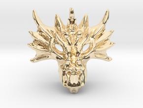 Aegis Dragon Pendant in 14K Yellow Gold