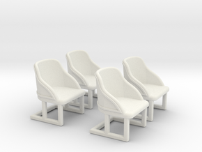 Chair: Cafe or Bistro chair. Four piece set. in White Natural Versatile Plastic