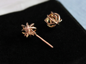 Hollow Orb Studs in 14k Rose Gold Plated Brass
