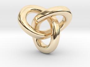 Trefoil Pendant - Small in 14k Gold Plated Brass