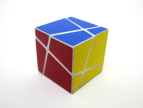 Polyaxis Cube 2x2x2 (DIY) in White Strong & Flexible Polished