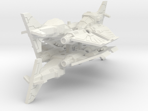 6mm DarkClaw Fighter-Bomber (4pcs) in White Natural Versatile Plastic