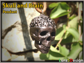 Awesome Brain Skull Pendant in Stainless Steel