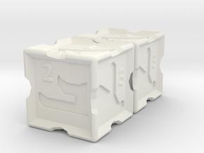 Estrangela Dice in White Natural Versatile Plastic