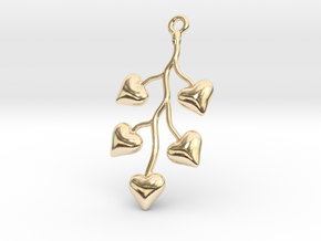Cluster Of Hearts in 14k Gold Plated Brass