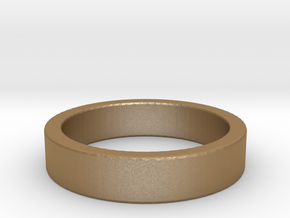 Basic Ring US10 in Matte Gold Steel