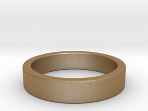 Basic Ring US11 in Matte Gold Steel