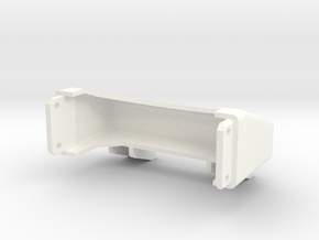 Tamiya King Hauler tapered frame end - Type A in White Strong & Flexible Polished