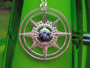 Orzhov Pendant in Rhodium Plated Brass