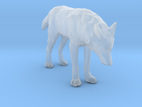 Lowpoly Wolf in Smooth Fine Detail Plastic