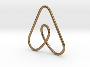 Airbnb Keychain in Natural Brass
