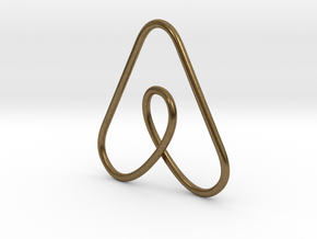 Airbnb Keychain in Natural Bronze