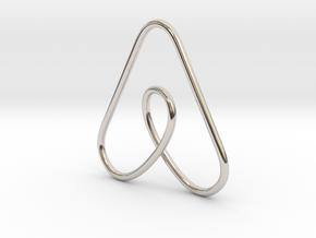 Airbnb Keychain in Platinum