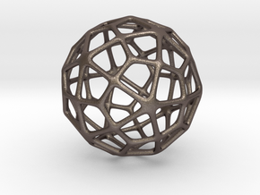Deltoidal Hexecontahedron in Polished Bronzed Silver Steel