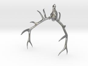 Elk Skull  in Natural Silver