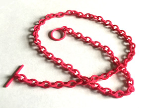Basic Oval Chain - 22in in Pink Processed Versatile Plastic