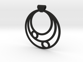 Celestial Circles in Black Natural Versatile Plastic