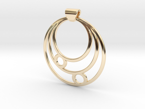 Celestial Circles in 14k Gold Plated Brass