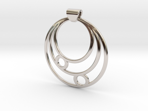 Celestial Circles in Rhodium Plated Brass