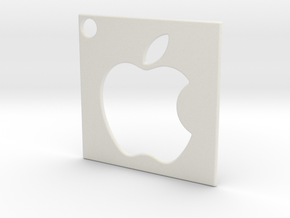 Apple - Logo Pendant in White Natural Versatile Plastic