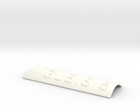 GLEIS 5 mit Pfeil nach oben in White Processed Versatile Plastic
