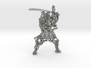 Samurai Pendant in Natural Silver