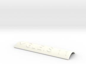 GLEIS 11 mit Pfeil nach unten in White Processed Versatile Plastic