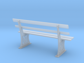 GWR Bench 7mm scale O gauge in Smooth Fine Detail Plastic
