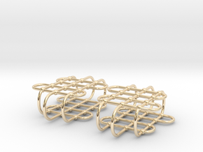 Jungle Gym -- Precious Metal Earrings in 14k Gold Plated Brass