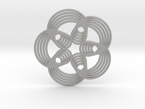 0571 Triple Rotation Of Points (5 cm) #003 in Aluminum