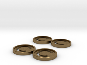 7mm Coins (Type1), x4 in Natural Bronze