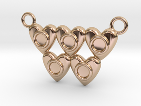Olympic Hearts - Rio 2016 in 14k Rose Gold Plated Brass