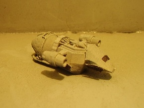 1/1000 Scale Mk-1 Freighter in White Natural Versatile Plastic