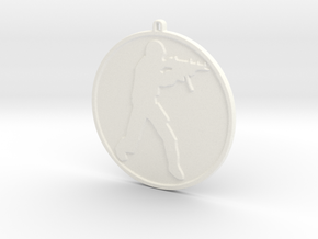 Counter Strike Source Necklace / Keychain in White Strong & Flexible Polished