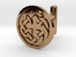 Fatherhood  Celtic cufflinks in Polished Brass
