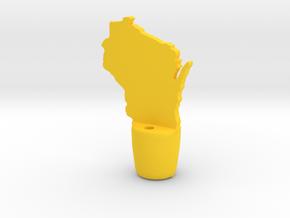 Wisconsin Wine Stopper in Yellow Processed Versatile Plastic