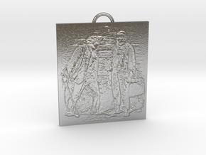 Principalities Pendant in Natural Silver