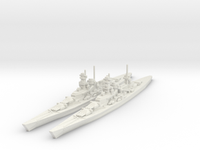Scharnhorst and Gneisenau 1/1800 in White Strong & Flexible