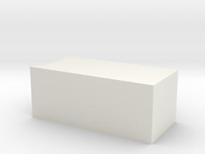 customize test in White Natural Versatile Plastic