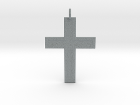 Cross in Polished Metallic Plastic