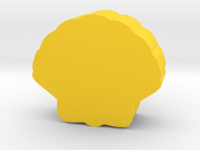 Game Piece, Sea Shell in Yellow Processed Versatile Plastic