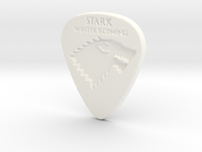 Game of Thrones Stark Guitar Pick in White Strong & Flexible Polished