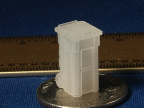 S Scale 64 Gallon Trash Bins X8 in Frosted Ultra Detail