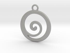 Koru Pendant in Aluminum