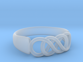 Double Infinity Ring 16.5mm size 6 in Smooth Fine Detail Plastic