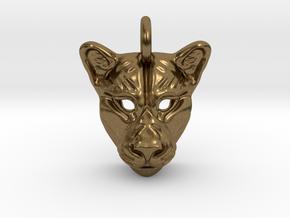 Lioness Pendant in Natural Bronze
