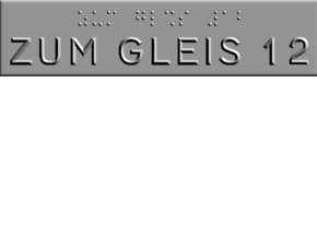 ZUM GLEIS 12 in Polished Metallic Plastic