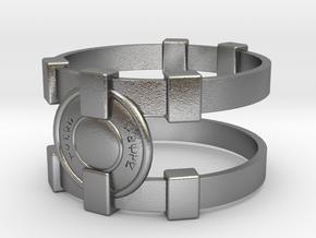 Brainy Bracer ver.1 in Natural Silver